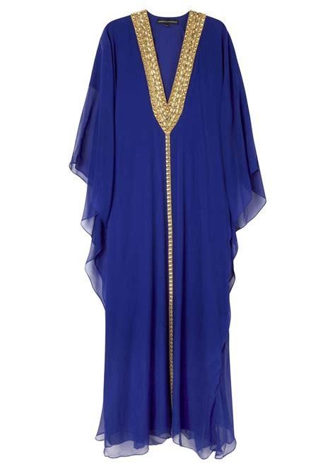 Melissa Odabash Kaftan Sale | melissa odabash hilary blue embellished silk chiffon