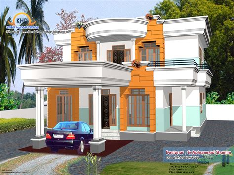 4 Beautiful Home Elevation Designs In 3d Home Appliance 3d Home Designer