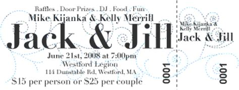 george 183 ous jack and jill tickets and invitations