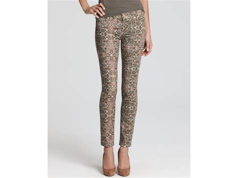 printed jeans denim trends for fall 2013 shop 7 for all mankind the skinny jeans in mosaic print in