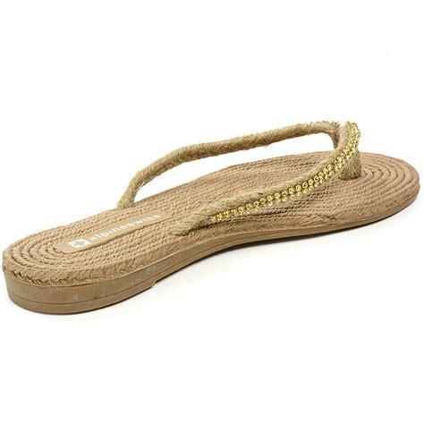 flip flat shoes alpineswiss womens rhinestone sandals padded sole thongs