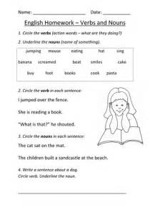 nouns and verbs worksheet ks1 by mignonmiller uk