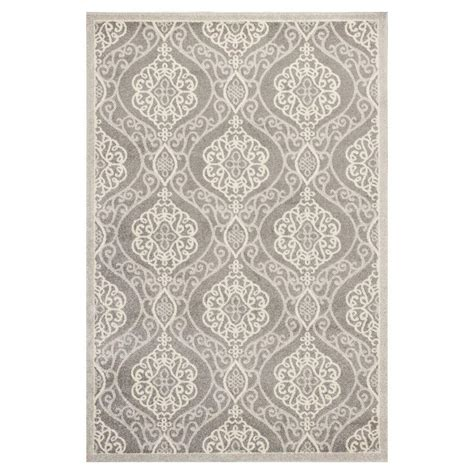 All Weather Area Rugs Kas Rugs Riviera Silver 7 Ft 7 In X 10 Ft 10 In All Weather Area Rug Luc275977x1010 The