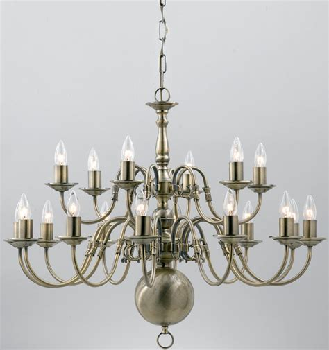 Flemish Brass Chandelier Flemish Large Solid Brass 18 Light Chandelier Antique Finish Universal Lighting