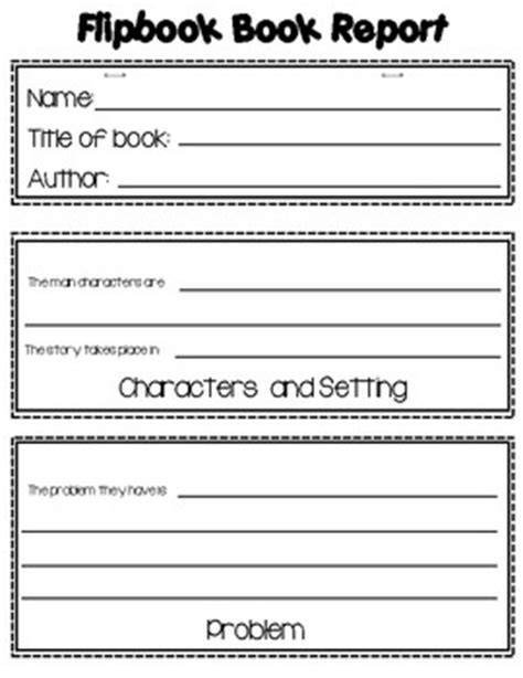 book report or story elements templates flipbook