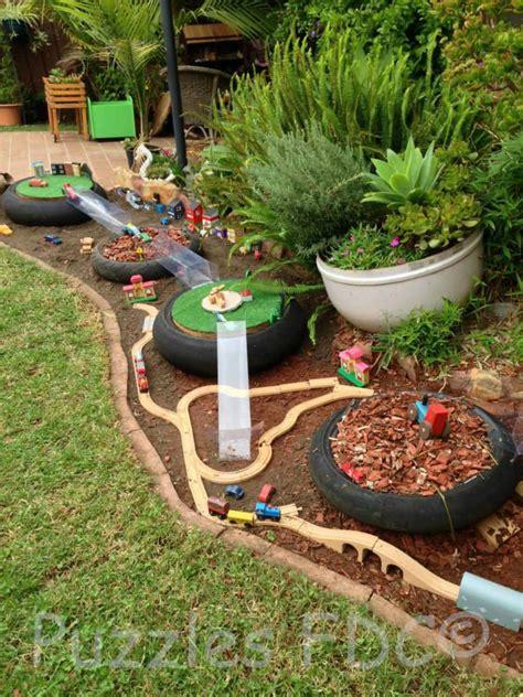 Five Diy Outdoor Tracks For Transport Play Be A Fun Mum Children S Garden Ideas
