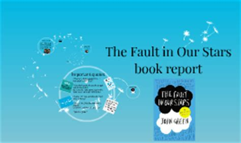 book report the fault in our the fault in our book report by catarina baltazar on