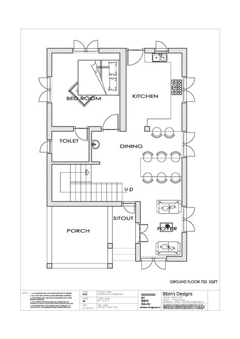 kerala  sq ft  bedroom simple house plan