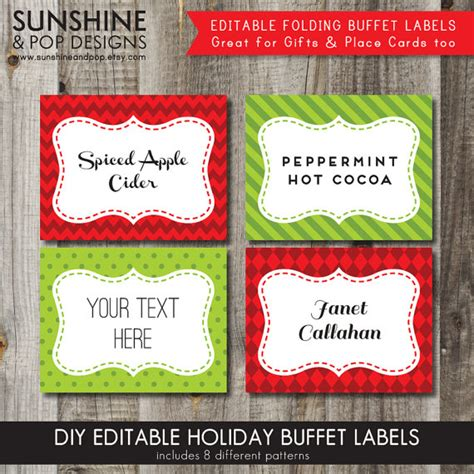 8 best images of printable christmas gift food labels
