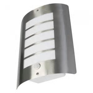 outdoor light with pir avon 60 watt ip44 outdoor wall light with pir stainless