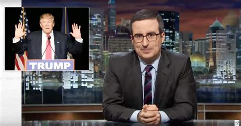john oliver blasts fox news for circus sideshow gop john oliver taunts trump s penis cheeto with cheese dust