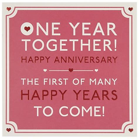 Hotchpotch One Year Together Anniversary Greeting Card   Loves