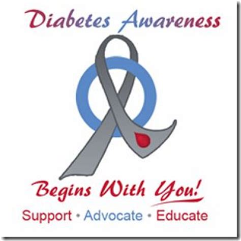 diabetes awareness color ribbon and circle tattoos the