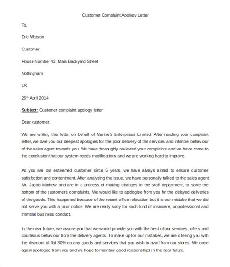 Sle Response To Complaint Letter On Customer Service Business Letter Template Complaint 28 Images 10 Business Complaint Letter Templates Free Sle