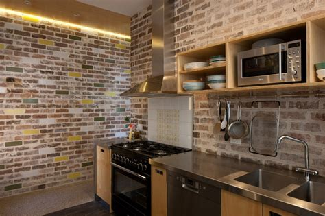 model wallpaper dinding dapur brick batu bata dinding dapur beda beda design interior