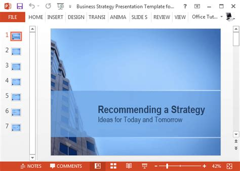 Free Business Strategy Template For Powerpoint Business Strategy Template Powerpoint