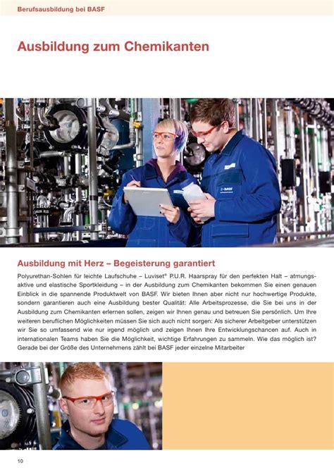 Bewerbung Zum Chemielaboranten Basf Berufsfeld Naturwissenschaften
