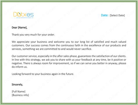 Customer Thank You Letter 5 Best Sles And Templates Customer Thank You Letter Template