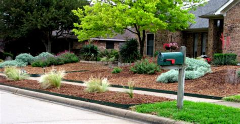 green simple landscaping ideas using mulch for front yard green simple landscaping ideas using mulch for front yard