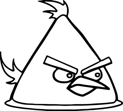 yellow bird coloring page yellow angry bird vector coloring page wecoloringpage