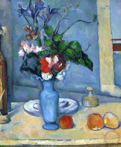 The Blue Vase Cezanne by Paul Cezanne The Blue Vase 1885 87 Painting The Blue