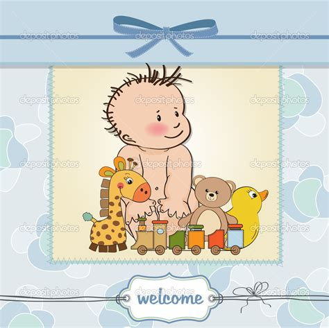 card templates for new baby new baby boy template shower card stock photo