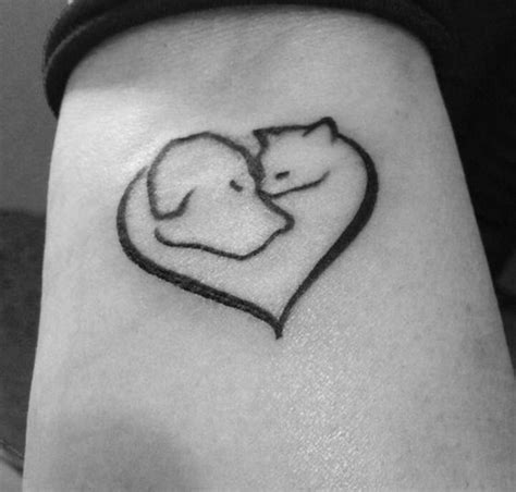 lovely cute pet animal tattoos designs pet memorial tattoos