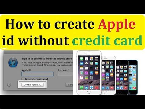 how to make an id card how to create apple id without credit card complte guide