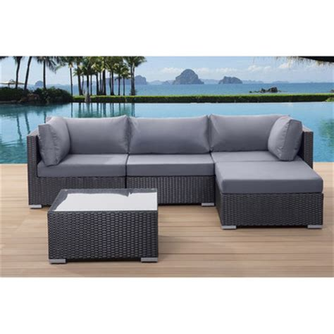 Outdoor Sectional Sofa Canada by Velago Sectional Outdoor Sofa Set Sano Black Wicker