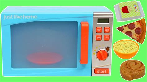 just like home microwave pretend cooking playset