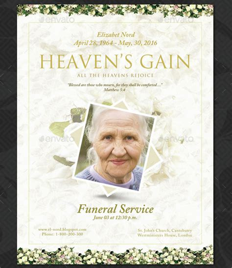 16 funeral memorial program templates free psd ai eps