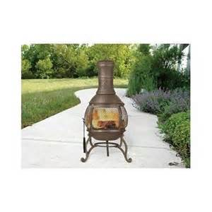 Small Patio Chiminea Wood Burning Fireplace Outdoor Pit Patio Deck