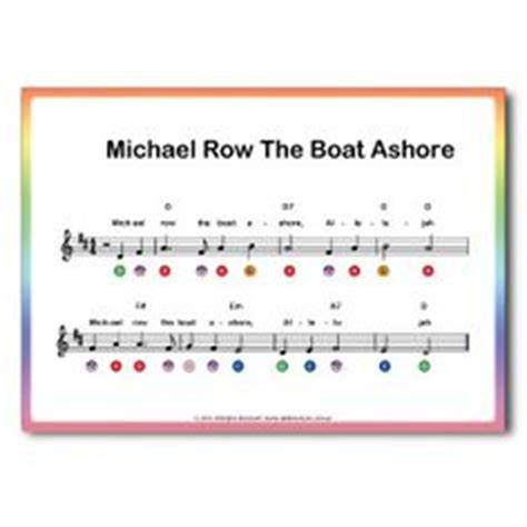 michael row the boat ashore partition gratuite away in a manger by traditional piano sheet music