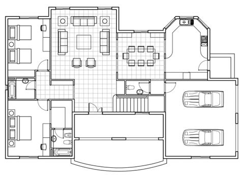 cad house plans autocad 2d plans images house floor plans