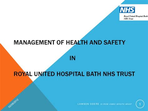 Mba In Healthare Management And Safety by Management Of Health And Safety Nhs Royal Bath