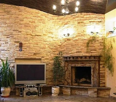 fireplace stacked stone stacked stone fireplace with built