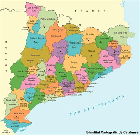 catalonia tourism map area map of spain tourism region
