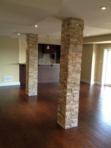 stone home decor columns in basement add stone home decor copy cat
