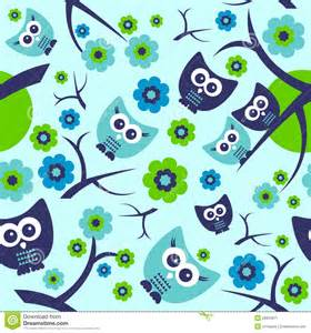 seamless pattern with cute owls stock image image 28304871