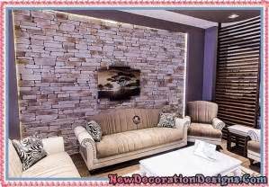Stone Wall Living Room travertine stone wall cladding and living room wall decoration ideas