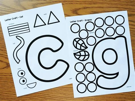 printable art projects for preschoolers alphabet crafts printables notebooks alphabet crafts