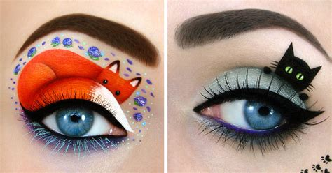 Crrante Eye Make Up Remover israeli artist draws amazing make up on own eyelids