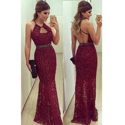 Cc Dress Lace Square prom dress burgundy prom dress lace prom dress
