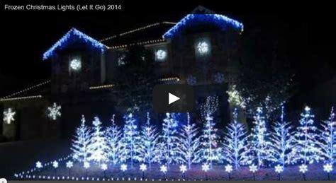 Frozen Christmas Lights My Honeys Place Frozen Light Show
