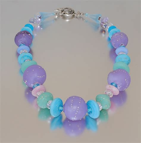 Handmade Glass Bead Jewelry - caribbean handmade glass bead necklace
