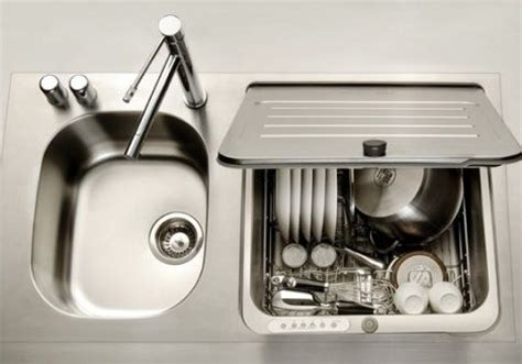 No Plumbing Dishwasher less is more dishwasher is integrated into sink treehugger