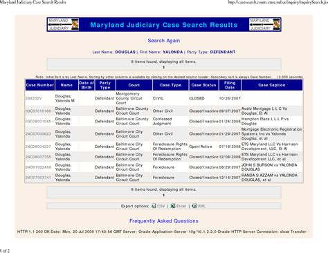 Maryuland Judiciary Search Md Search Driverlayer Search Engine