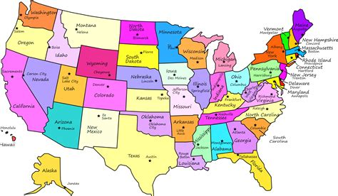 usa map with states labeled map usa no names world maps