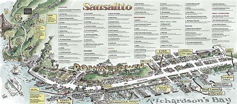 map of sausalito area sausalito map gallery