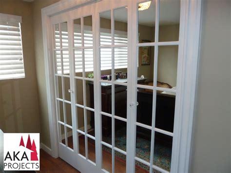 Custom Sliding Mirror Closet Doors Mirrored Doors With Sash Bars Replaced The Sliding Mirror Doors Adding Elegance And